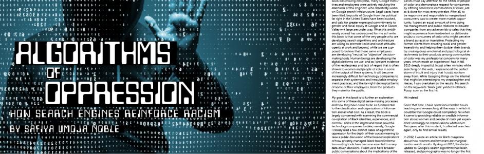 algorithms of oppression by safiya umoja noble